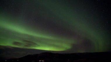 Time laps of aurora borealis — Stock Video