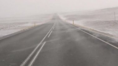 Driving through snowstorm — Vidéo