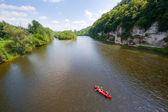 Canoe on Dordogne — Stock Photo