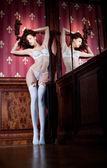 Girl in lingerie — Stock Photo