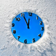 Snow clock — Stock Photo