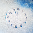 Snow clock — Stock Photo #14516011
