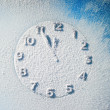 Snow clock — Stock Photo #14516013