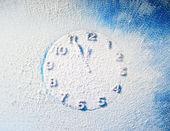 Snow clock — Stock Photo