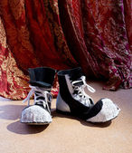 Shoes of clown — Stock Photo