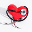 Heart and stethoscope — Stock Photo