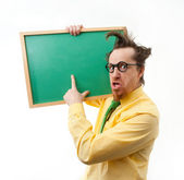 Crazy teacher — Stock Photo