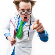 Angry doctor — Stock Photo