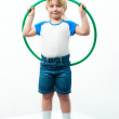 Boy with hoop — Stock Photo