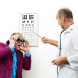 Stock Photo: Doctor and patient funny
