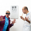 Doctor and patient funny — Stock Photo #22345813