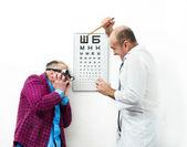 Aggressive doctor — Stock Photo