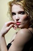 Portret van blonde — Stockfoto
