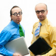 Crazy businessmen — Stockfoto #23195790