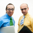Crazy businessmen — Stock Photo