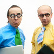 Thoughtful businessmen — Stock Photo