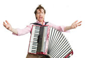 Crazy musician — Stock Photo