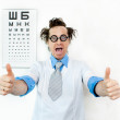 Crazy oculist — Stock Photo