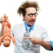 Crazy pediatrician — Stock Photo