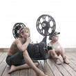 Stock Photo: Children and cinema