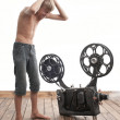 Teenager and cinema — Stock Photo