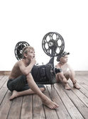 Children and cinema — Stock Photo