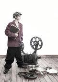 Nastolatek i kino — Zdjęcie stockowe