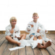 Two boys and toilet paper — Stock Photo #29815197
