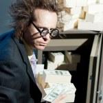 愤怒的银行家 — 图库照片