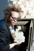 Angry banker — Stock Photo