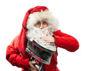 Santa Claus with the iron — Stock Photo