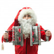 SantClaus with irons — Stock Photo #35297507