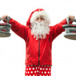 SantClaus with irons — Stock Photo #35351201