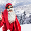 Santa Claus in forest — Foto de Stock