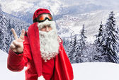 Santa Claus in forest — Stock Photo