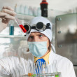 Chemist in the laboratory — Foto de Stock