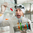 Stock Photo: Chemist in laboratory