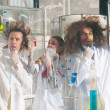 Stock Photo: Crazy chemists