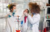 Bizarre chemists — Stock Photo