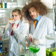 Bizarre chemists — Stock Photo