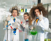Cheerful chemists — Foto Stock