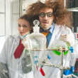 Bizarre chemists — Stock Photo #36957543