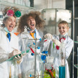 Stock Photo: Cheerful chemists