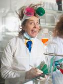 Cheerful chemist — Stock Photo