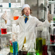 Cheerful chemist — Stock Photo #37090769