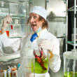 Cheerful chemist — Stock Photo #37090787