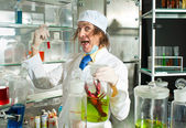 Cheerful chemist — Stock Photo