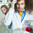 Stock Photo: Bizarre chemist