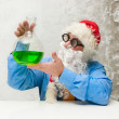 Santa Claus with drink — Stock Photo