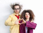 Funny loving couple — Stock Photo